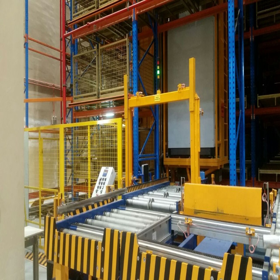 Cladding self rack supported ASRS with automated warehouse system