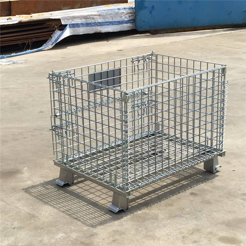 Industrial Warehouse Storage Heavy Duty Stackable Wire Mesh Container