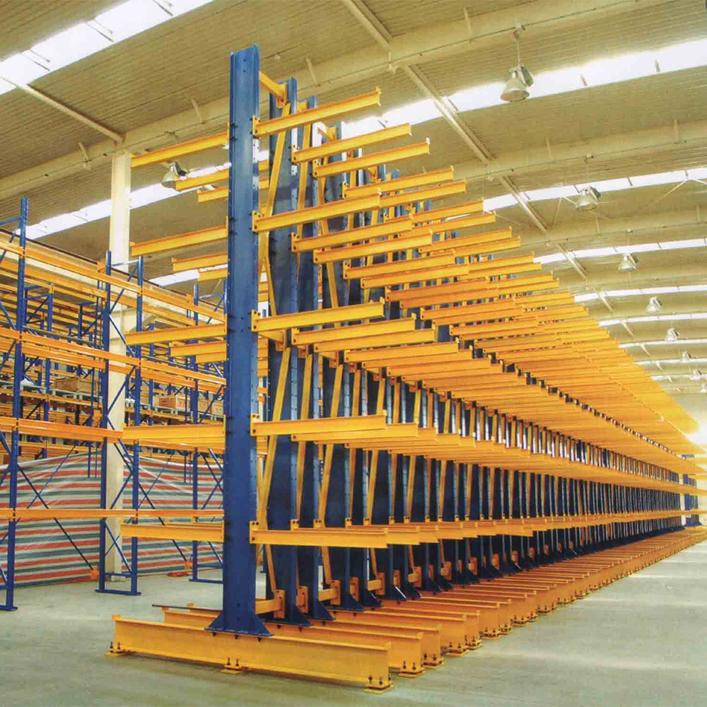 Heavy Duty Warehouse Storage Cantilevered Rack Supplier Double or Single Side