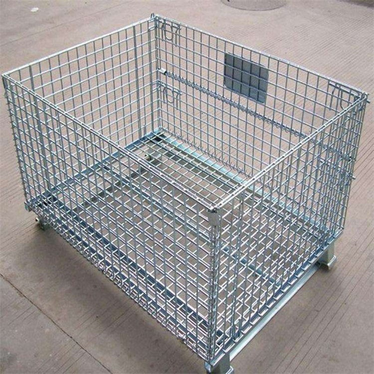 Stacking Heavy Duty Rigid Industrial Collapsible Wire Mesh Storage Container