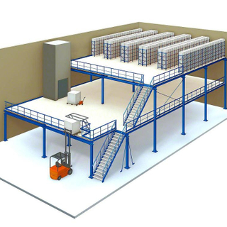 ISO Certificate Heavy duty Warehouse steel mezzanine racking