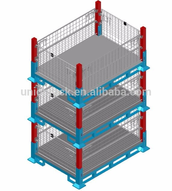 Powder Coating/Galvanized Foldable Stacking Steel Wire Mesh Pallet