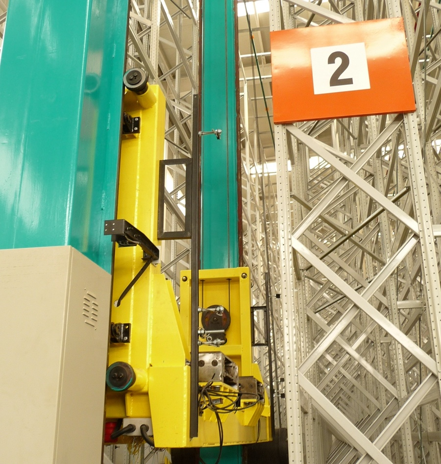 High Efficiency Automatic Stacker Crane For Retrieval Pallet Racking Asrs Rack System
