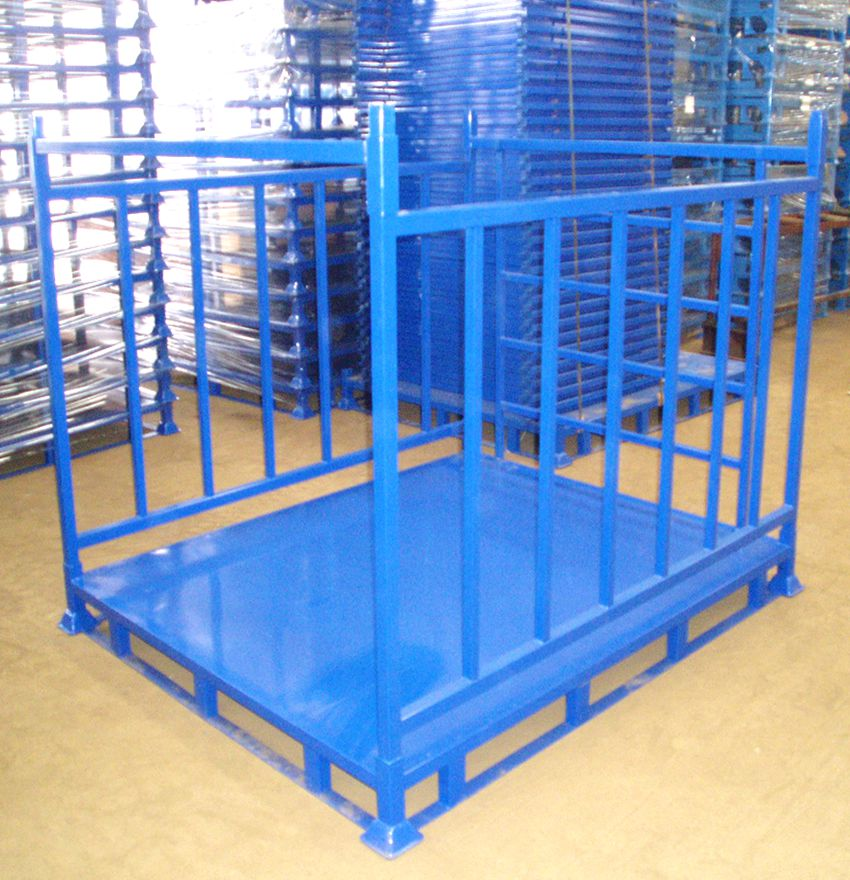 Galvanized Or Powder Coating Foldable Warehouse Storage Heavy Duty Stacking Steel Pallet