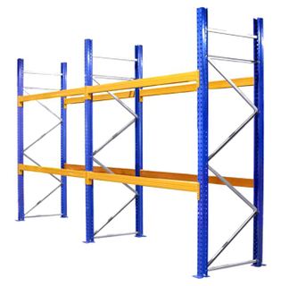 High density steel heavy duty beam racking