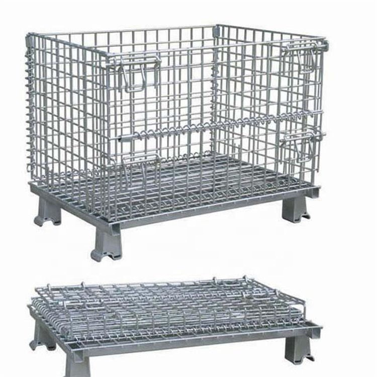 High Quality Steel Security Cage Heavy Duty Collapsible Wire Mesh Container