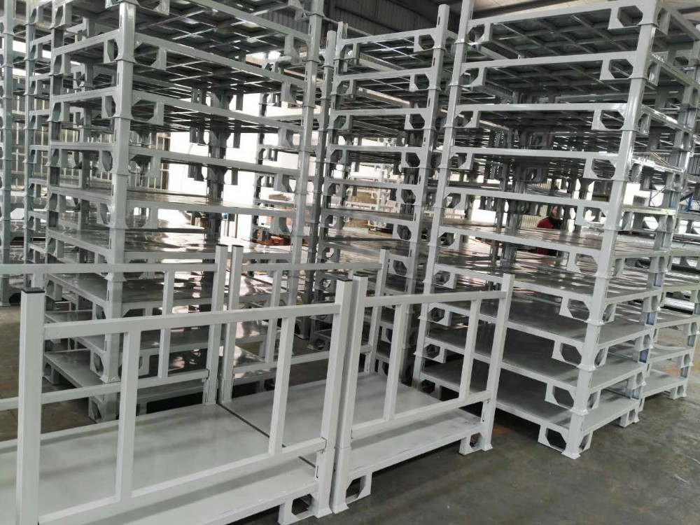Powder Coating Steel Collapsible Demountable Heavy Duty Stacking Pallet