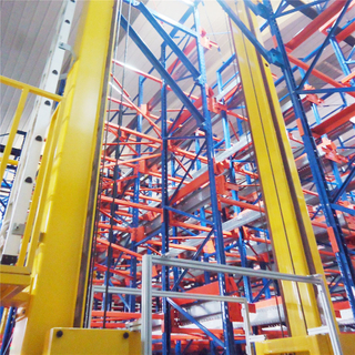Space Saving Automated Single Column Stacker Crane AS/RS Racking System