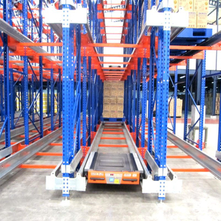 High Efficiency Warehouse Using Radio Shuttle Racking With Shuttle Conveyor