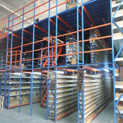Long Span Shelving Supported Heavy Duty Steel Mezzanine Racking System