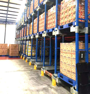 FIFO or FILO Radio Shuttle Storage Racking System Controlled by Remote