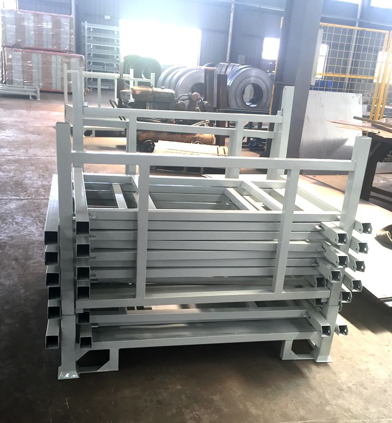 Stack Steel Powder Coating Collapsible Stacking Pallet Rack