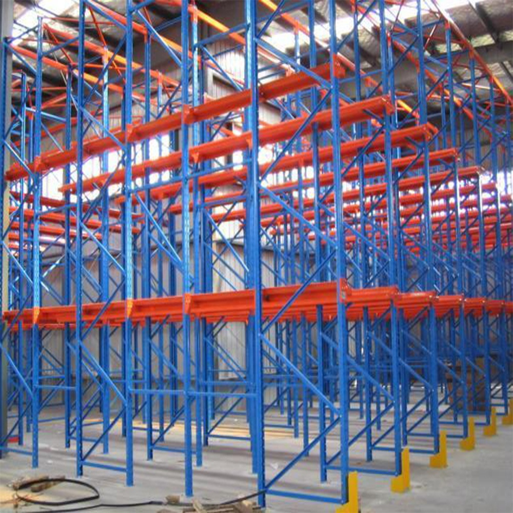 Industrial warehouse storage heavy duty pallet rack system drive in racking