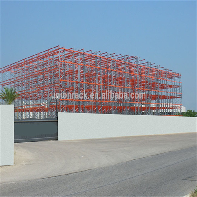 Heavy Duty Automatic Storage Rack Clad Supported Warehouse Building
