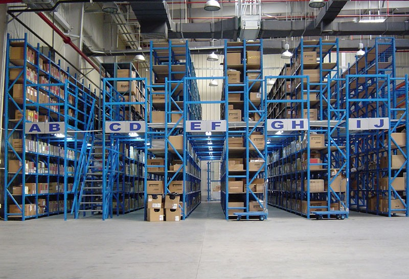 Powder Coating Cold Storage Mezzanine Racking For Warehouse Storage