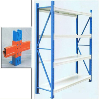 Customized medium duty storage rack with steel decking